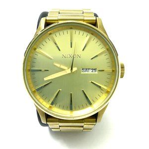 Nixon Sentry SS 42mm Stainless Steel Gold Watch